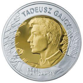 65-я годовщина Варшавского Восстания - поэт Тадеуш Гаес 10 злотых Польша 2009