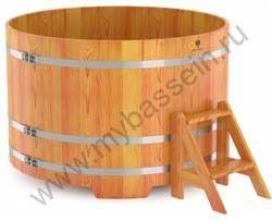 Купель четырехместная круглая (лиственница)