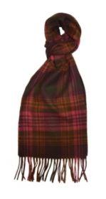 шарф 100% шерсть , коллекция Горец -яркая клетка, янтарная расцветка Каррик