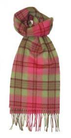 шарф 100% шерсть , коллекция Горец -яркая клетка, расцветка Гирвэн
