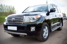 Защита переднего бампера 75х42 мм овальная (TLCZ-000512) для Toyota Land Cruiser 200 2012