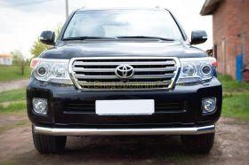 Защита переднего бампера 76 мм удлененная (TLCZ-000511) для Toyota Land Cruiser 200 2012