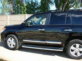 Зашита штатного порога 60 мм (LC12-04) для Toyota Land Cruiser 200 2012