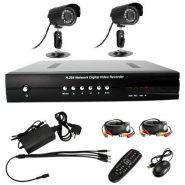 Система Видеонаблюдения 2 камеры ик 20 м 420 твл + Видеорегистратор