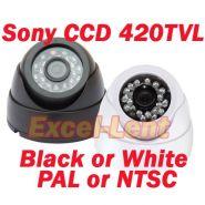 420TVL Цвет Sony CCD Купольная видеокамера