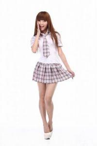 Японская школьная форма (летняя/клетчатая/розовая)