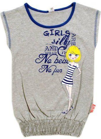 Серая блуза для девочки