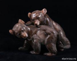 Играющие медвежата. Rosenthal, Германия. 1930-50е
