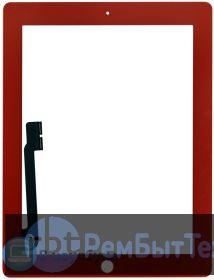 Сенсорное стекло (touchscreen) для Ipad 3 красное