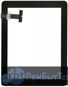 Сенсорное стекло для Ipad 1 черное + кнопка home