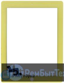 Сенсорное стекло (touchscreen) для Ipad 2 желтое