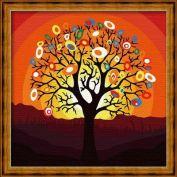 """Раскраска по номерам """"Дерево надежд"""" 40х40"""
