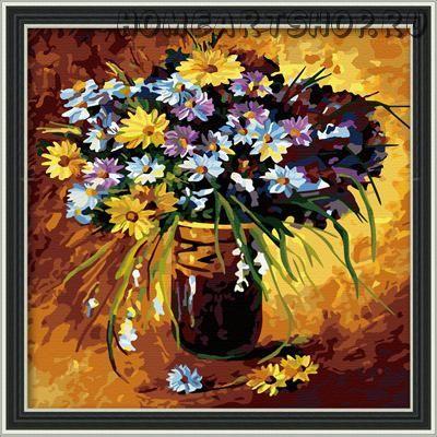"""Раскраска по номерам """"Полевые цветы"""" 40х40"""
