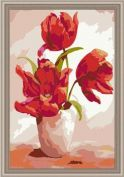 "Картина по номерам ""Маки в вазе №2"" 60х90"