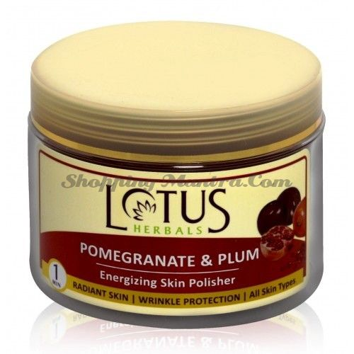 Тонизирующий скраб Гранат&Слива Лотус Хербалс (Lotus Herbals Polisher Pomegranate&Plum)