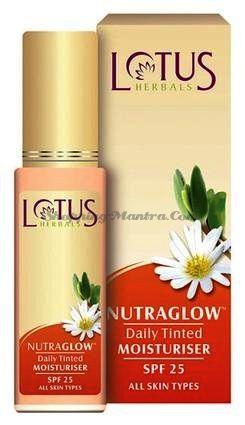 Тонирующий увлажнитель для лица с защитой SPF25 Нутраглоу Лотус Хербалс | Lotus Herbals Nutraglow Daily Tinted Moisturiser
