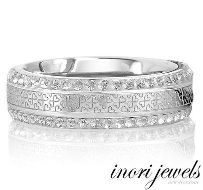 Стальное кольцо Inori Infinity Hearts