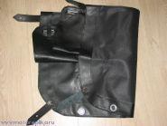 Тент коляски чёрный кожзам