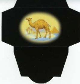 Картонная упаковка чёрная верблюд  (50 шт)