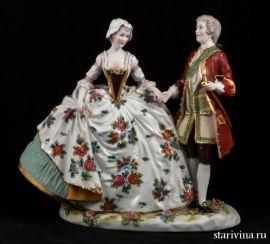 Пара в костюмах 18 века, Ernst Bohne Sohne, Германия, Нач,20 века