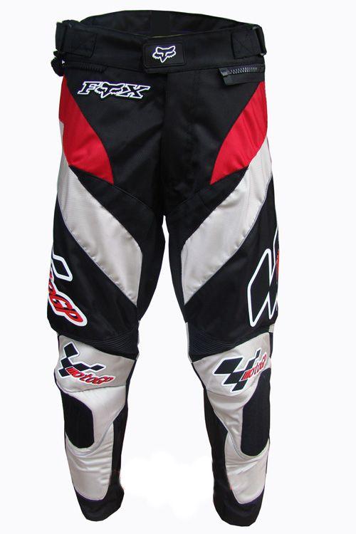 Мотоциклетные штаны FOX GP (белый-черный)