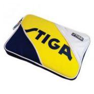 Чехол прямоугольный на 2 ракетки Stiga Tournament (желто-сине-белый)