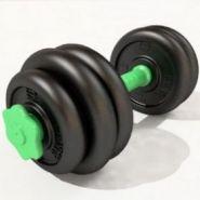 Гантель разборная 13 кг гриф зеленый пластиковый 001030 SS