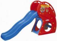 """HNP-716 детская горка """"Дельфин"""" с баскетбольным кольцом Haenim toy"""