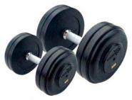 Набор обрезиненных гантелей AEROFIT RFD-2,5/25-2,5-25 кг (10 пар )