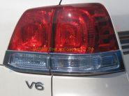 Хромированные накладки на заднию оптику (Тип 3) для Toyota Land Cruiser 200 2008