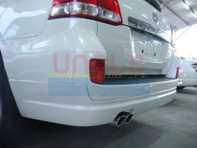 Аэродинамическая накладка на задний бампер губа (Тип 3) для Toyota Land Cruiser 200