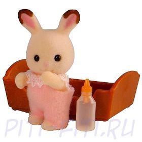 """Sylvanian Families. Набор """"Малыш кролик шоколадный"""""""