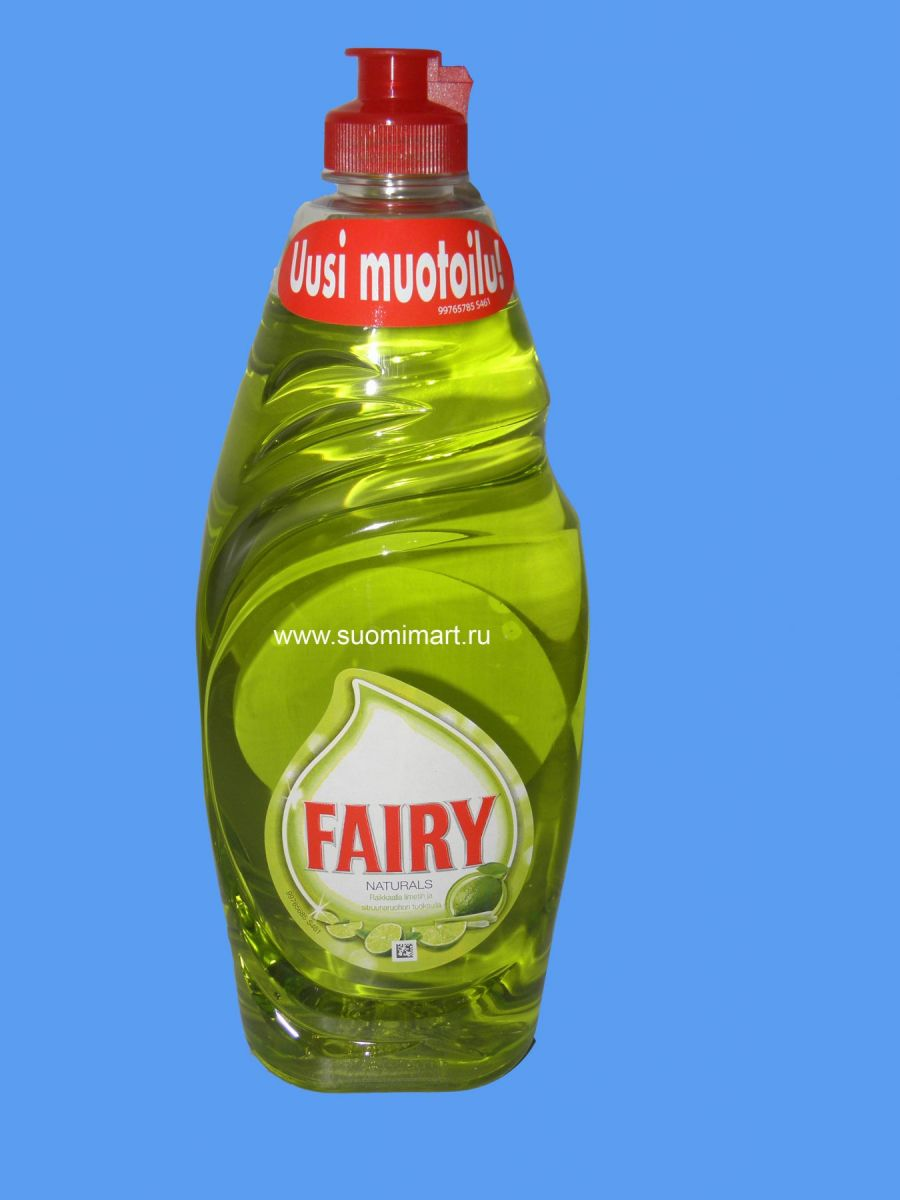 Средство для мытья посуды Fairy Naturals (лайм) 650мл