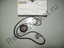 Комплект ГРМ (ремень+ролики) (двигатель 1,6 16V) Renault оригинал 7701477023