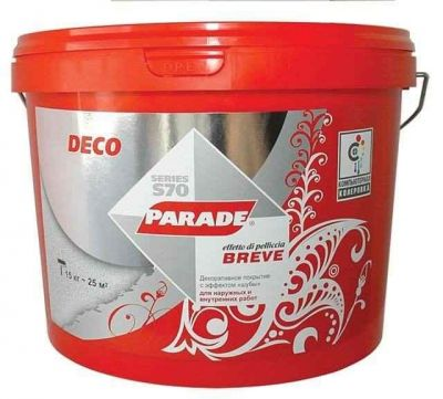 PARADE DECO BREVE S70 Декоративная штукатурка для наружных и внутренних работ (15 кг)
