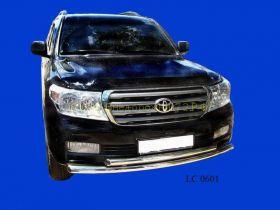 Защита переднего бампера двойная 60 мм (LC06-01) для Toyota Land Cruiser 200 2008