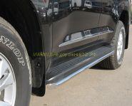 Пороги труба 42 мм овальные (LCT-000200/1) для Toyota Land Cruiser 200 2008