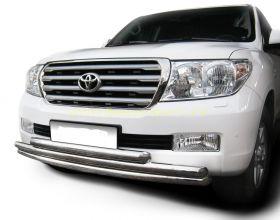 Защита переднего бампера 63х63х63 мм (LCZ-000210) для Toyota Land Cruiser 200 2008