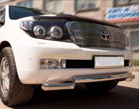 Защита переднего бампера 70 мм (LCZ-000205) для Toyota Land Cruiser 200 2008