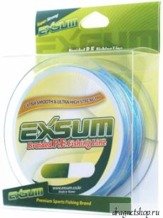 Шнур плетеный EXSUM Braided P.E.Fishing Line, от10LB до50LB,разноцв.,намотка150м.(EXSM-mltcolor-150)