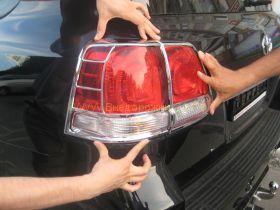 Хромированные накладки на заднию оптику (Тип 2) для Toyota Land Cruiser 200 2008