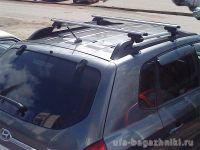 Багажник на крышу Hyundai Tucson, Атлант, аэродинамические дуги на рейлинги