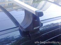 Багажник на крышу Nissan Qashqai, Атлант, прямоугольные дуги