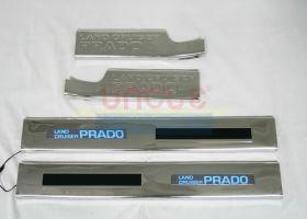 Накладки на пороги с подсветкой (Тип 2) для Toyota Land Cruiser Prado 150