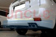 Аэродинамическая накладка на задний бампер губа для Toyota Land Cruiser Prado 150