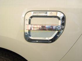 Хромированная накладка на лючек бензобака (Тип 1) для Toyota Land Cruiser Prado 150