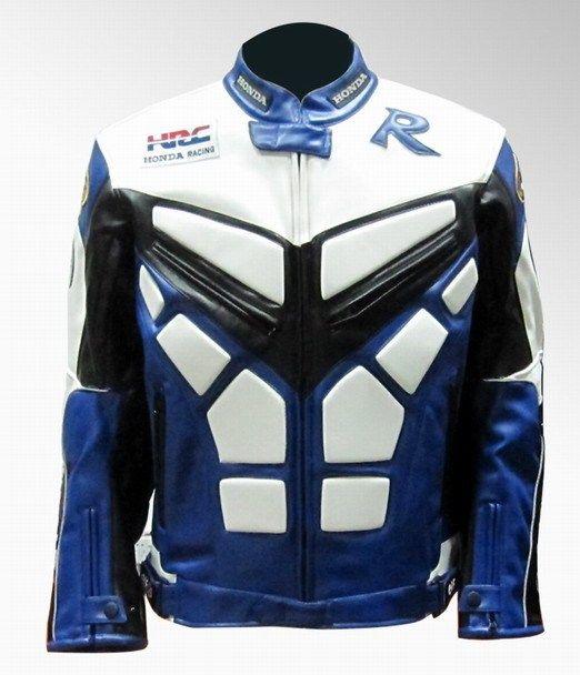 Мотокуртка PU Honda RC со встроенной защитой (синий)