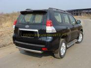 Защита заднего бампера 75х42 мм овальная (TOYLCPR150-06) для Toyota Land Cruiser Prado 150 2010