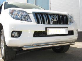 Защита переднего бампера 76х42 мм двойная (PNZ-000472) для Toyota Land Cruiser Prado 150 2010