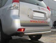 Защита заднего бампера 75х42 мм (PNZ-000480) для Toyota Land Cruiser Prado 150 2010
